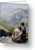 Mountain View Greeting Cards - Soul Mates Greeting Card by Mary Giacomini