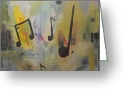 Music Notes Greeting Cards - Soul Music Greeting Card by Mike Stocker