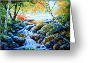 Landscape Painter Greeting Cards - Sounds Of Silence Greeting Card by Hanne Lore Koehler