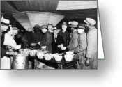 Market Greeting Cards - Soup Kitchen, 1931 Greeting Card by Granger
