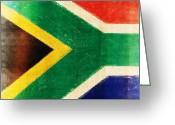 Rust Greeting Cards - South Africa flag Greeting Card by Setsiri Silapasuwanchai