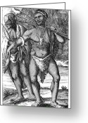 The Cape Greeting Cards - South Africa: Hottetot Man Greeting Card by Granger