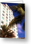South Beach Greeting Cards - South Beach Art Deco District Greeting Card by Thomas R Fletcher