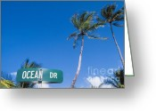 South Beach Greeting Cards - South Beach Greeting Card by Juan  Silva