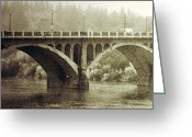 Rural Posters Framed Prints Greeting Cards - South Bridge  Greeting Card by Jerry Cordeiro