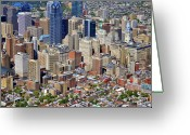 South Philadelphia Greeting Cards - South Broad Street Philadelphia Greeting Card by Duncan Pearson