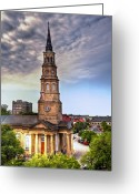 Carolina Greeting Cards - South Charleston Skyline Greeting Card by Drew Castelhano