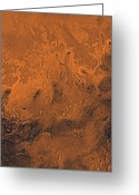 Gully Greeting Cards - South Chryse Basin Valles Marineris Greeting Card by Stocktrek Images