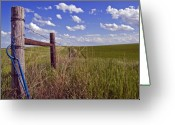 Fence Gate Greeting Cards - South Dakota Fence Greeting Card by Kristen Massucci