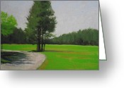 Open Road Painting Greeting Cards - SOUTH FIELD  at  PRINCESS PLACE Greeting Card by Robert Rohrich