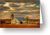 Goose Digital Art Greeting Cards - South For The Winter Greeting Card by Lois Bryan