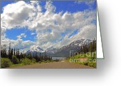 Klondike Greeting Cards - South Klondike Highway Greeting Card by Charline Xia
