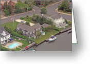 Flights Greeting Cards - South Lagoon House Mantoloking New Jersey Greeting Card by Duncan Pearson