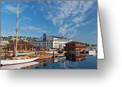 Washington State Greeting Cards - South Lake Union Morning Greeting Card by Photo by Dean Forbes