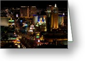 Las Vegas Greeting Cards - South Las Vegas Strip Greeting Card by James Marvin Phelps