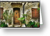 Bright Pyrography Greeting Cards - South of France 1 Greeting Card by Mauro Celotti