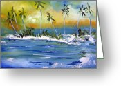 Patricia Taylor Greeting Cards - South Pacific Greeting Card by Patricia Taylor