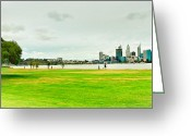 Jogging Greeting Cards - South Perth Greeting Card by Jimmy Chong