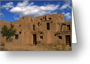 Taos Pueblo Greeting Cards - South Pueblo Taos Greeting Card by Kurt Van Wagner