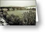 Bridge Prints Greeting Cards - South Saskatchewan  Greeting Card by Jerry Cordeiro