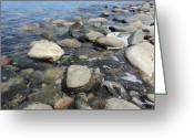 Pebbles Greeting Cards - South Sauble Shore Greeting Card by Merv Scoble