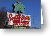South Seas Greeting Cards - South Seas Sign Greeting Card by Garry Gay
