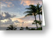 Greaves Greeting Cards - South Seas Sunset Greeting Card by John  Greaves