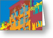 Kevin Sherf Greeting Cards - South Street Greeting Card by Kevin  Sherf