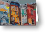 Kevin Sherf Greeting Cards - South Street Revisited Greeting Card by Kevin  Sherf