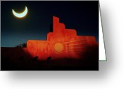 Solar Eclipse Greeting Cards - South West Eclipse.. Greeting Card by Al  Swasey