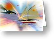 Smudgeart Greeting Cards - South Winds Greeting Card by Madeline M Allen