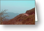 Mountain View Greeting Cards - Southern California Mountains Greeting Card by Irina  March