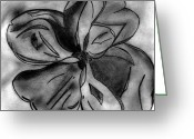 Flower Tree Drawings Greeting Cards - Southern Magnolia Blossom Greeting Card by Elizabeth Briggs