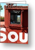 Old Caboose Greeting Cards - Southern Pacific Caboose - 5D19235 Greeting Card by Wingsdomain Art and Photography