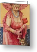Elderly Painting Greeting Cards - Southern Rose Greeting Card by Shelly Wilkerson