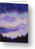 Spiritual Art Pastels Greeting Cards - Southern Sky Greeting Card by Elise Okrend