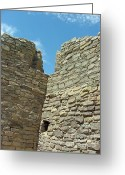 Rock Walls Greeting Cards - Southwestern Ruins Greeting Card by Judy Powell