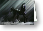 Horse Art Pastels Greeting Cards - Sovereign Greeting Card by Kim McElroy