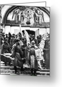 Russian Revolution Greeting Cards - Soviet Anti-religion Policy Greeting Card by Granger