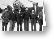 Number 12 Greeting Cards - Soviet N-209 Transpolar Flight Crew, 1937 Greeting Card by Ria Novosti
