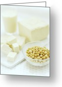Tofu Greeting Cards - Soya Bean Products Greeting Card by David Munns