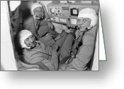 White Russian Greeting Cards - Soyuz 11 Rocket Crew Greeting Card by Ria Novosti