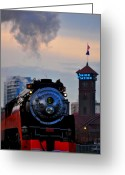 Locomotive Greeting Cards - Sp 4449 - 3 Greeting Card by Noah Cole