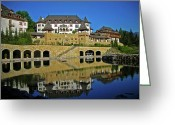 Alpine Panorama Greeting Cards - SPA Resort A-ROSA - Kitzbuehel Greeting Card by Juergen Weiss