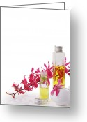 Essential Greeting Cards - Spa Set With Copy Space Greeting Card by Atiketta Sangasaeng