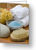 Cosmetics Greeting Cards - Spa still life Greeting Card by Frank Tschakert