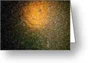 Everything Else Greeting Cards - Space Abstract Greeting Card by Kimberly Gonzales