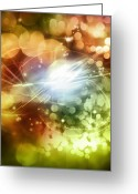 Fairy Photo Greeting Cards - Space background Greeting Card by Les Cunliffe