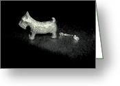 Monopoly Greeting Cards - Space Dog Greeting Card by Robert Cunningham