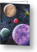 Outerspace Greeting Cards - Space Greeting Card by Eileen Blair
